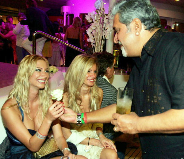 controversial photo of vijay malya night party